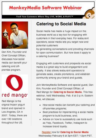 Hear Dan Kim speak about a social media strategy to grow catering sales!